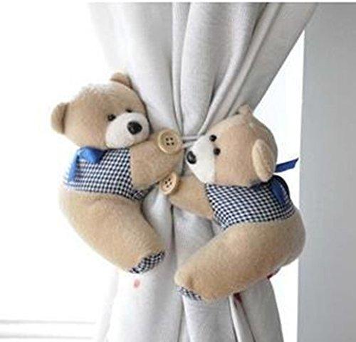 Cygoshop 2 Stück/Paar Fenster Wellenvorhang, Haken für Raffhalter, süßer Bär Wellenvorhang Schnalle Kleiderbügel
