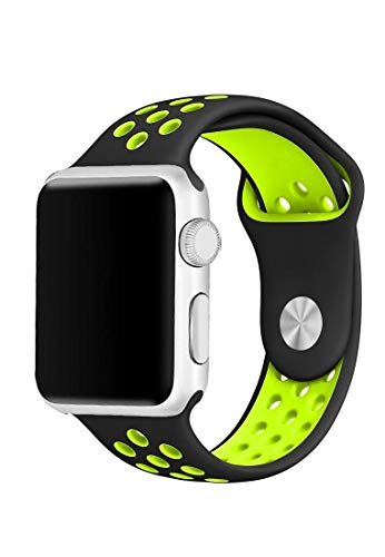 MarGoun Smart Monitor SEnsor customizEd - MarGoun Smart Watch with HEart RatE Monitor SEnsor HRM and 42mm Sport Band, Can bE customizEd strap, color mix and watch - Black/GrEEn