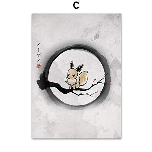 XWArtpic Dragon Ball DBZ Super Okami Death Note Japan Anime Poster Und Drucke Wandkunst Leinwand Malerei Wandbilder Kinderzimmer Dekor 60 * 80 cm
