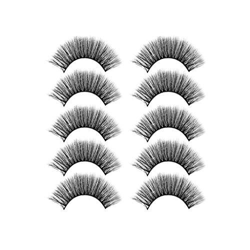 masrin Makeup Handmade 5Pairs Natürliche Lange Flauschige Wimpern Erweiterte Fünf Paar Falsche...