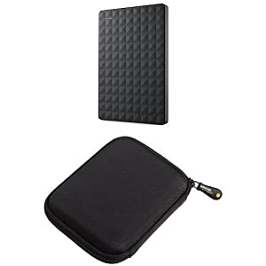 Seagate-1-TB-Expansion-USB-30-Portable-25-Inch-External-Hard-Drive-for-PC-Xbox-One-and-PlayStation-4-STEA1000400-AmazonBasics-Hard-Black-Carrying-Case-for-My-Passport-Essential