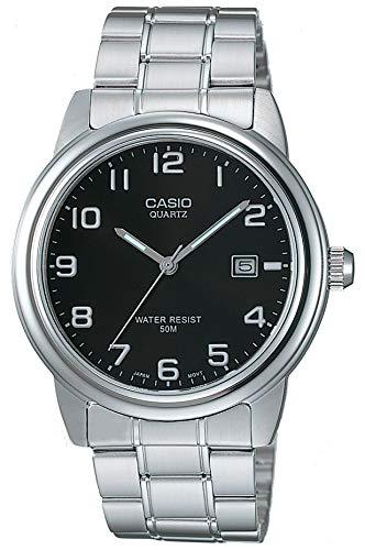 Casio Herren Uhr Analog Quarz mit Edelstahlarmband MTP-1221A-1AVEF