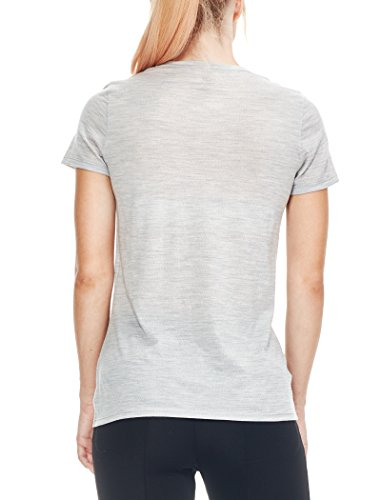 Icebreaker Damen Tech Lite Short Sleeve Crewe Diamond Burst T-Shirt Blizzard Hthr