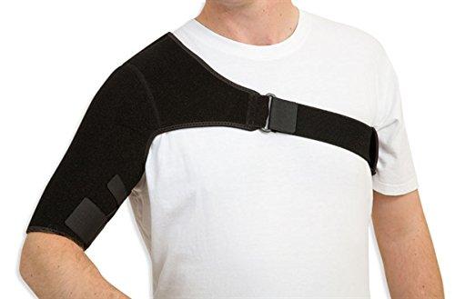 Shoulder Support Adjustable Neoprene Stretch Strap Wrap Belt Band Pads Gym Guard Brace Support Medical Posture Compression Shoulder Pad Black (Right)
