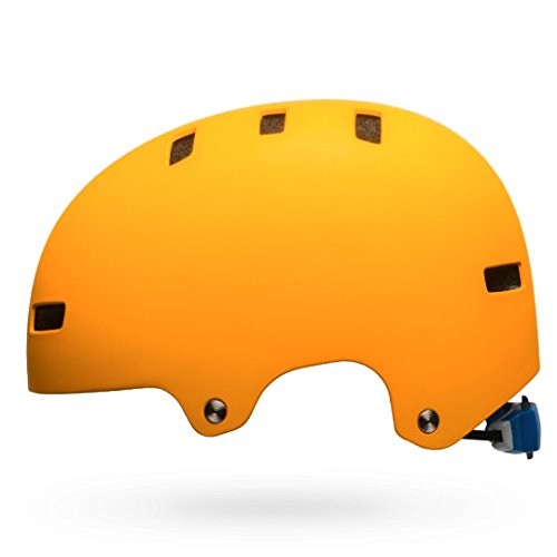BELL Unisex Jugend Span Fahrradhelm, m orange/Force Blue Liquid, S