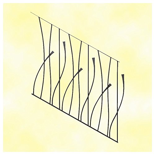 Panneau décoratif rampant d'escalier design courbe L970x1000mm