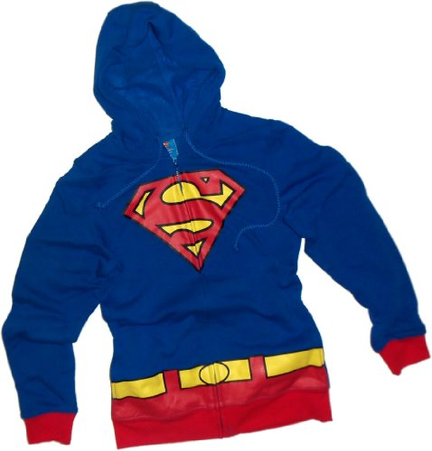 Supergirl -- DC Comics Juniors Zipper-Fleece Hoodie Sweatshirt, M Juniors Zipper Hoodie