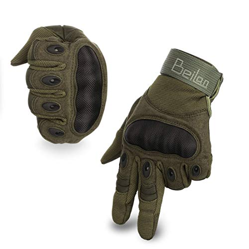 BeiLan Outdoor Handschuhe Herren Trainings Motorradhandschuhe Kletterhandschuhe Vollfinger Gloves Handschuhe zum Wander Klettern Motorrad Fahrrad Radsport Arbeiten(M)