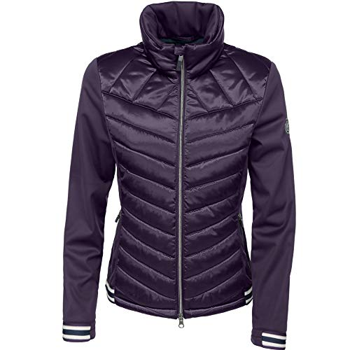 Pikeur Damen Softshell Jacke Calina mit Stehkragen, Grape/Grey, 36