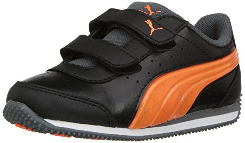 PUMA Baby Speed Lightup Power V Kids Sneaker, Black-Shocking Orange, 4 M US  Toddler e9648261fb