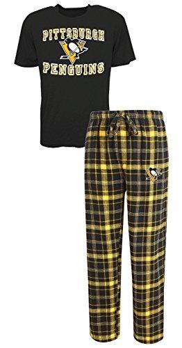 "Pittsburgh Penguins NHL ""Game Time"" Men's T-shirt & Flannel Pajama Sleep Set"