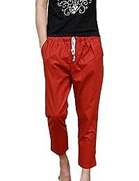 Pantalones De Harén De Los Hombres Pantalones De Ropa De Pantalones Playa  Verano Cómodos Pantalones De Lino Ligeros Sueltos con Cordón… e41e0a0ef3f