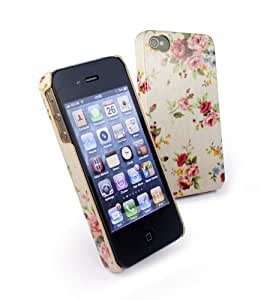 Tuff-Luv Tuff-Shell Case Cover for Apple iPhone 4/4S - Beige Secret Garden