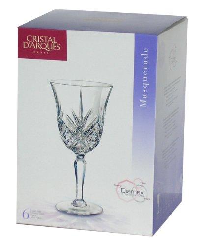 Cristal D'arques Masquerade C6 Diamax - Copa de vino (tamaño grande,