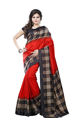 Sarees (Rudraksh Fashion Women Latest Design Wear Sarees in Multi Coloured Bhagalpuri Silk Material With Blouse Piece)