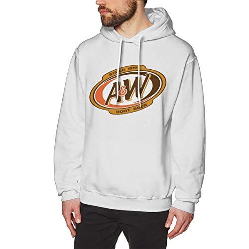 Deeplooppedes Herren A&W Root Beer Logo Wärme White XXL Fleece-Pullover Mit Kapuze -