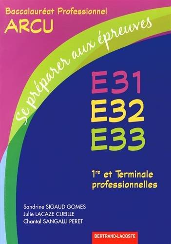 Se préparer aux epreuves e31-e32-e33
