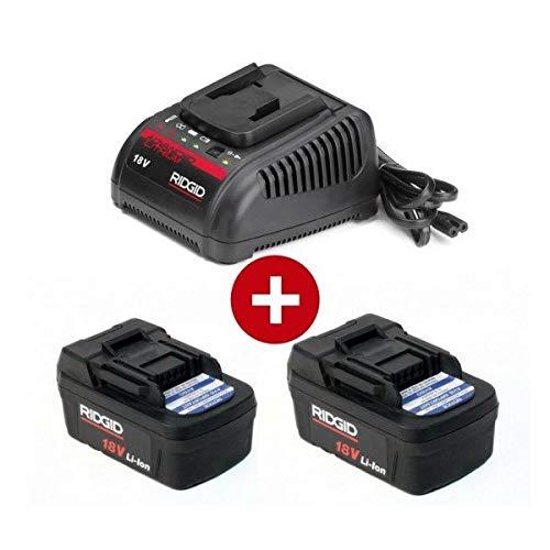 RIDGID 45433 Lithium-Akku 18 V und 1 Ladegerät, 230 V, 2 Stück