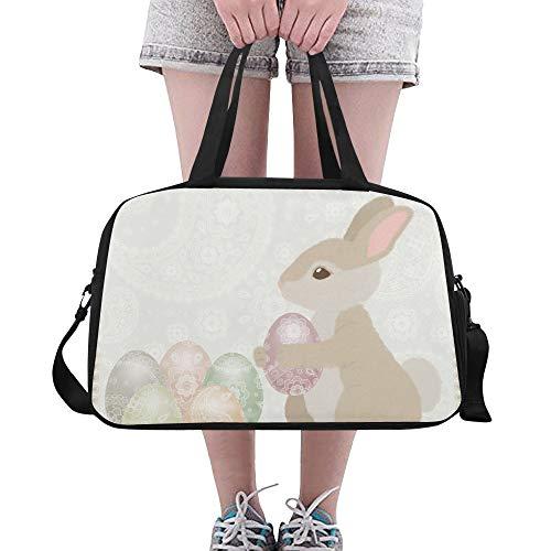 Plosds Niedlicher Entwurfs Karikatur Schneewittchen Kaninchen Häschen großer Turnhallen Totes Fitness Handtaschen Reise Seesäcke mit Schultergurt Schuhbeutel für Übung Gepäck die Frauen