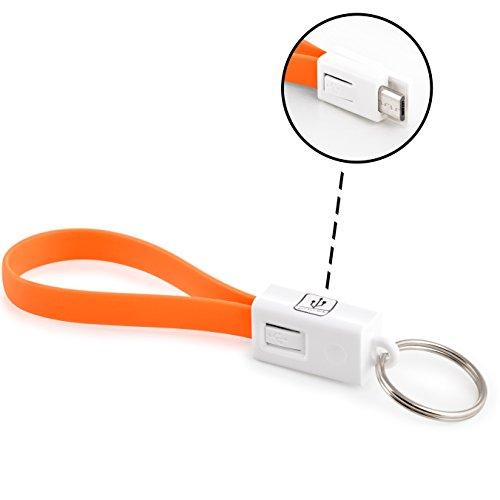 innoGadgets Portachiavi Cavo di Ricarica (Micro-USB, Neon Orange)