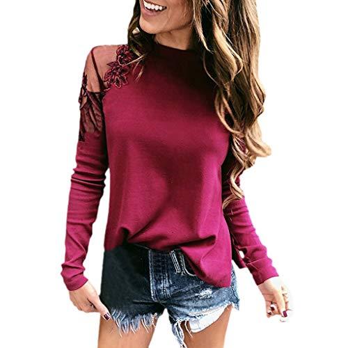 Casual Women Shirts, ZODOF Casual Lapel Turtleneck T-shirts Long Sleeve Blouse Buckle Dress Shirts