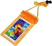 CHANCY Universal Sealed Transparent Waterproof,Dust Proof, Touch Sensitive Plastic Pouch Cellphone Case for La