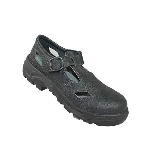 AIMONT Rimini S1 SRC Sicurezza Scarpe da Lavoro Scarpe da Trekking Scarpe Sandalo Nero, Dimensione:38 EU