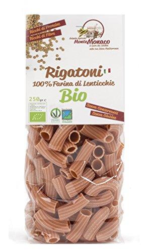 4x250g Pasta 100% Farina di Lenticchie BIO - RIGATONI