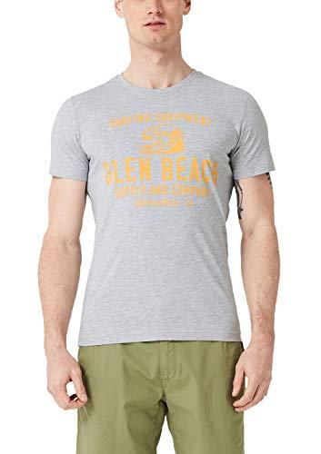 s.Oliver Herren 13.904.32.4791 T-Shirt, Grau (Harbour Grey 9103), Herstellergröße: XX-Large -