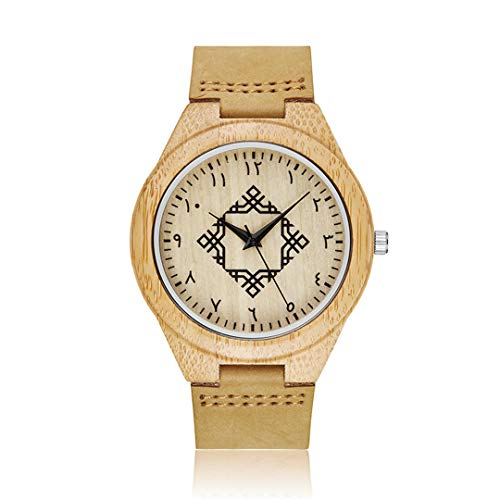 Massivholz Uhr FüR MäNner Armbanduhren Minimalistisches Design Original MäNner Holz Bambus Uhr Gravieren MäNnliche Armbanduhr Homme Design 10