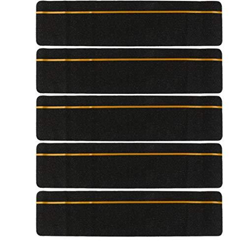 TOSSPER 5Pcs Sicherheit Treppen Grip Tape Anti-Rutsch-Aufkleber Adhesive mit reflektierendem Streifen -