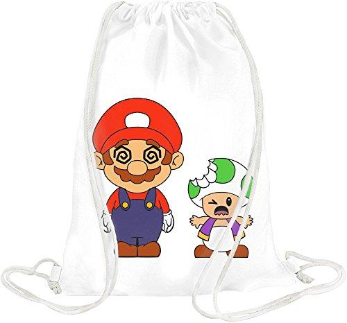 Super Mario High Trippy Acid Trippy Trip Lsd High Drawstring bag (Trippy Videos)