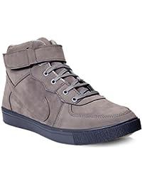 Brooke Designer Men's Grey Ankle Length Casual Shoes
