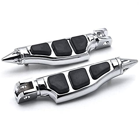 Krator® Suzuki / Honda / Can-Am Stiletto Front Foot Peg Foot Rests Chrome M90 Goldwing Stiletto Motorcycle Foot Pegs Footrests