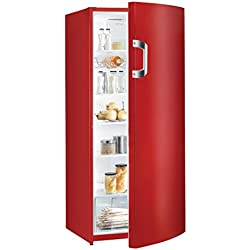 Gorenje Réfrigérateur - Efficacité énergétique A++ - Hauteur 145cm - Capacité de refroidissement:Volume refroidissement: 302l - Système à froid tournant - 5étagères en verre Rouge vif