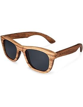 Navaris Wayfarer legno UV400 –