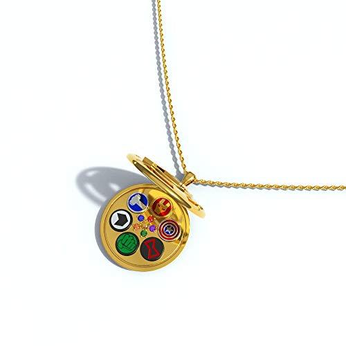 Endgame Halskette Cosplay Verziert mit Superheld Ohrring Neuheit Kupferlegierung Ohr tragen Sammler Kostüm Kleidung Kollektion Zubehör für Unisex Erwachsene