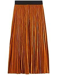 Promod Jupe plissée en Velours Femme