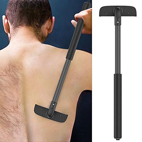 Byjia Zurück Rasierer Edelstahl Klinge Einstellbar Dehnbar Rasiermesser Männer Zurück Haar Rasierer Trimmer - Klinge Rasieren Patronen
