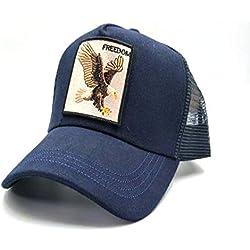 sdssup Gorra de béisbol del águila del Gallo Primavera y otoño Gorras Masculinas y Femeninas Gorra Neta de los Hombres del Tigre Azul Marino del águila 56-60cm