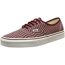 Vans Herren Authentische Gum Outsole Trainer Rot