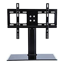 Black Table Top Tv Stand Base, Replacement Pedestal Stand Base With Bracket For Tv Lcdled, Plasma Screens 26 Up To 32 Inch(26-33inch)