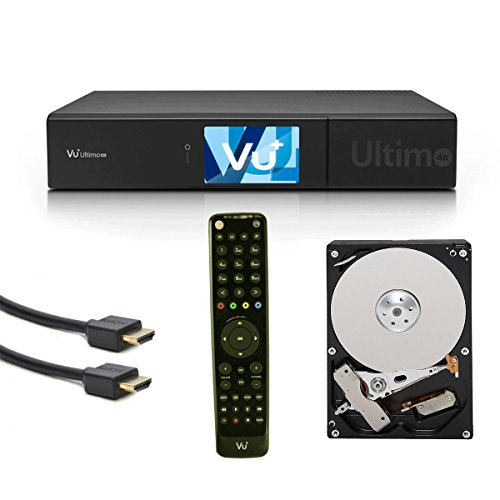VU+ Ultimo 4K UHD Linux Receiver 1x DVB-S2 Sat FBC (Full Band Capture) Twin Tuner Quad Core 1.5GHz PVR USB 3.0 + Toshiba 8.9cm (3.5') 1TB SATA3 DT01ACA100 7200 32mb HDD Festplatte