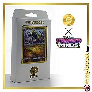 Haxorus 156/236 Holo Reverse - #myboost X Sun & Moon 11 Unified Minds - Box de 10 cartas Pokémon Inglesas