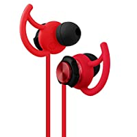 Gevo Audio Sport-Fi GV2 isolamento acustico cuffie auricolari con microfono, funzione vivavoce, Secure Fit per corsa, Jogging, palestra, esercizio, e in Ear auricolari per iPhone iPod iPad computer Mac e Android