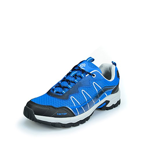 emansmoer Herren Mesh Atmungsaktiv Wasserdicht Ultraleicht Outdoor Footwear Sport Wandern Trekking Trail Schuhe Sneaker Blau