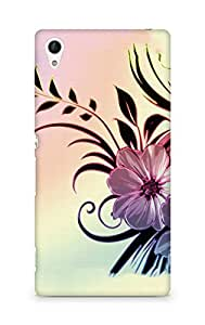 Amez designer printed 3d premium high quality back case cover for Sony Xperia Z4 (Flowers drawings patterns wavy light)