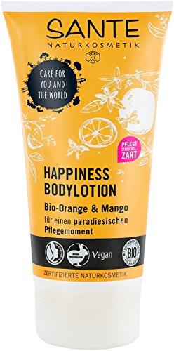 Body Lotion Coco Butter (SANTE Naturkosmetik Happiness Bodylotion, Tropischer Duft, Intensive Feuchtigkeit, Zieht schnell ein, Vegan, 2x150ml Doppelpack)