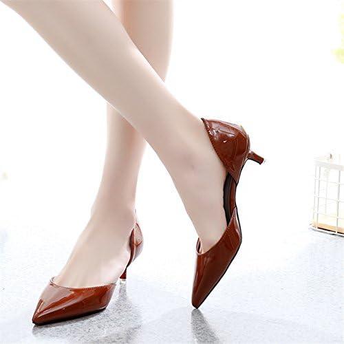 KPHY Pretty/Zapatos de mujer/Tacon Medio Bien De Tacon Zapato Primavera Y Otoño Commuter Zapatos Fiestas Banquetes...