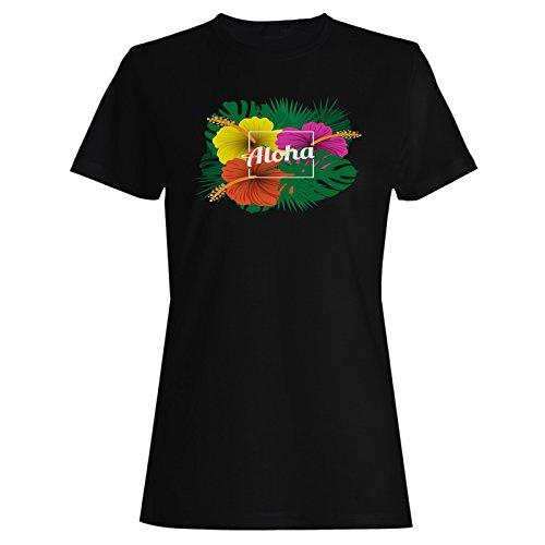 Aloha hawaii neuheit sommer usa Damen T-shirt g489f (Damen Shirt Neuheit)
